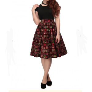 Collectif Vintage Mainline Jasmine Abstract Skirt